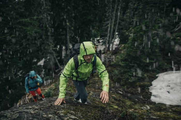 Columbia OutDry Extreme Jacket Hiking in Rain