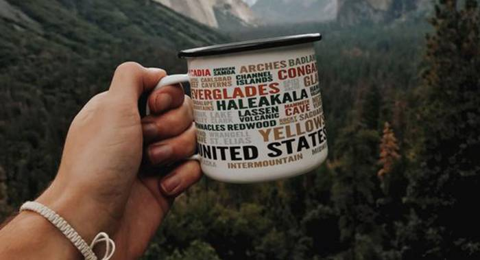 National Parks Enamel Mug mother's day gift
