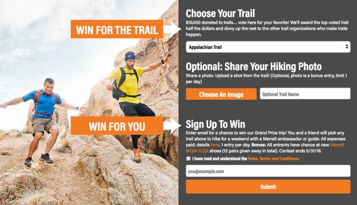 Merrell Hiking and Shoe Giveaway