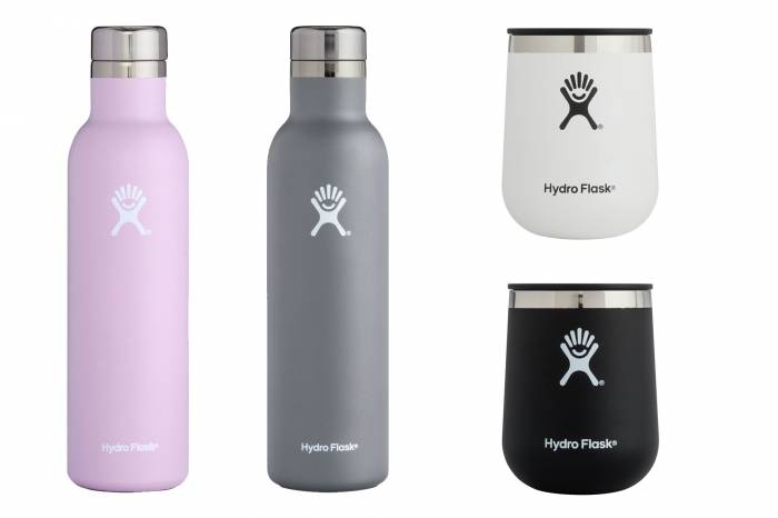 Hydro Flask Wine Bottle and Tumblers