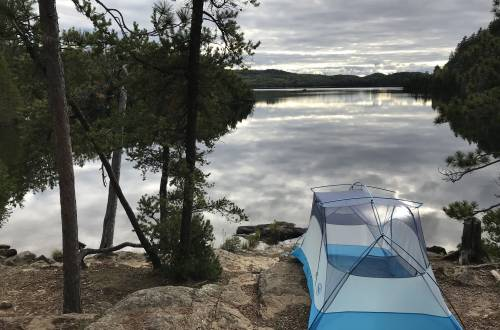 backpacking in a remote area