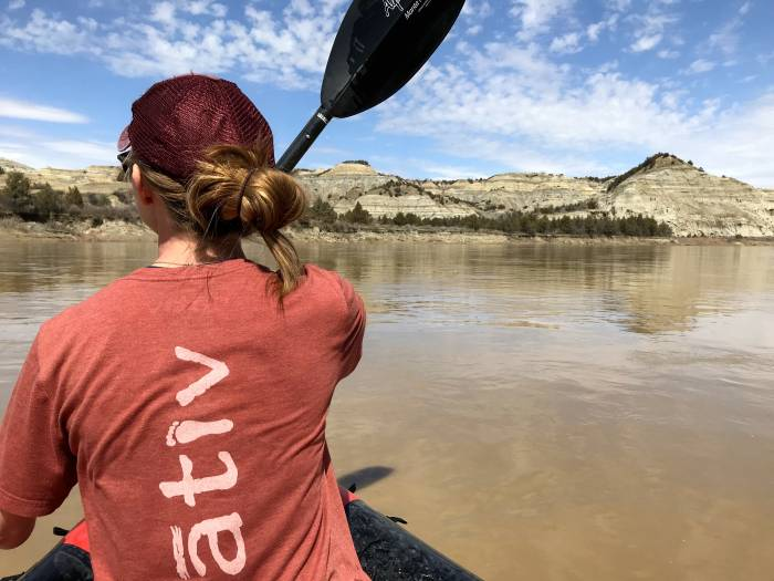 floating the Little Missouri River in a packraft