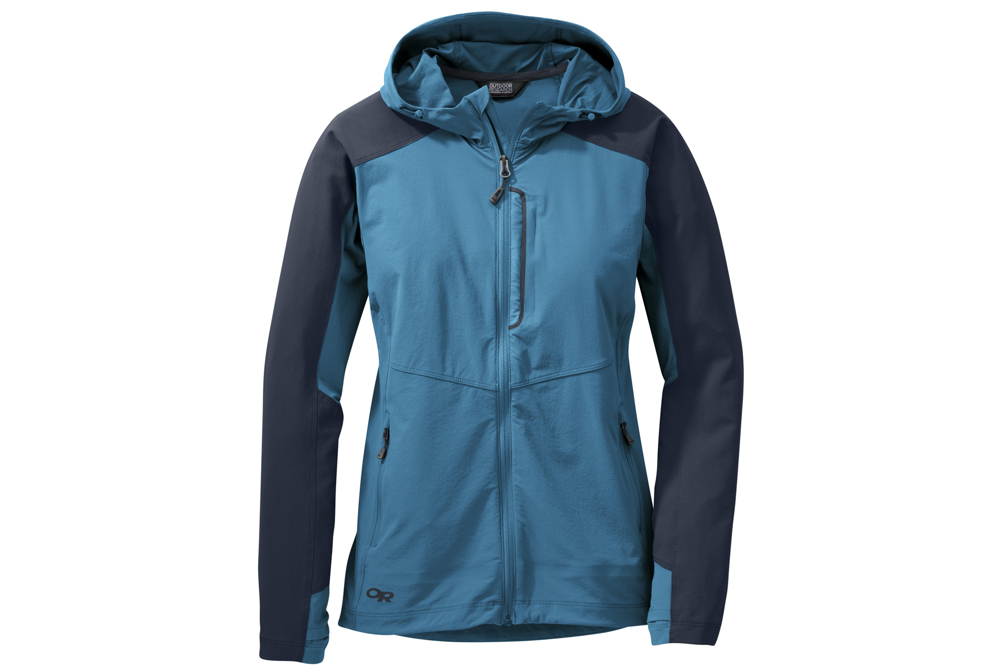 e903e5717 Protect yourself from intermittent showers or sudden mountaintop gusts with  the Ferrosi Hooded jacket. Outdoor Research placed tough Cordura fabric on  the ...
