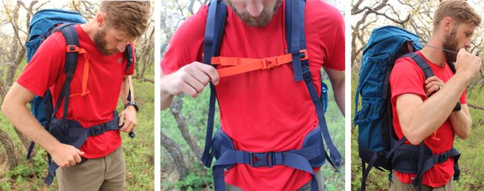 properly adjust a backpack