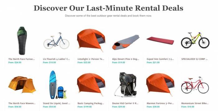 Gearo rental inventory