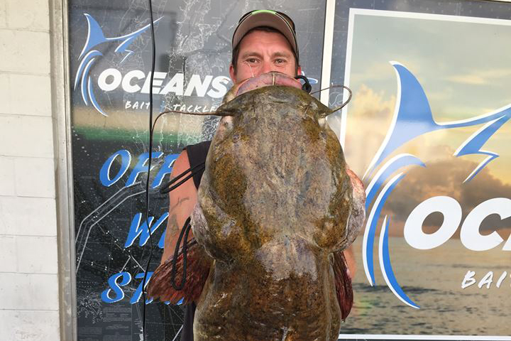 Big Earle record flathead catfish Virginia