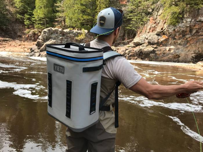 YETI Backflip cooler backpack is perfect for fly fishing