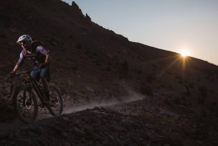 Mammoth Bike Park at dusk