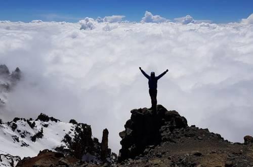 Steve Plain atop Mt. Everest