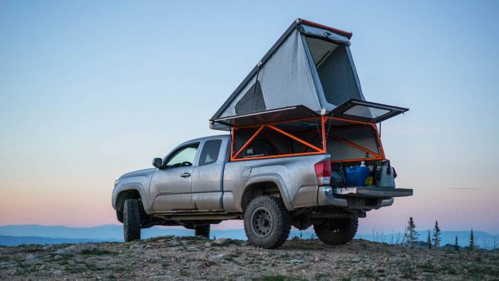 The Lightweight Pop Top Truck Camper Revolution Beach