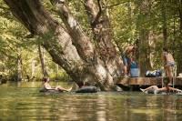 float a river in an inner tube