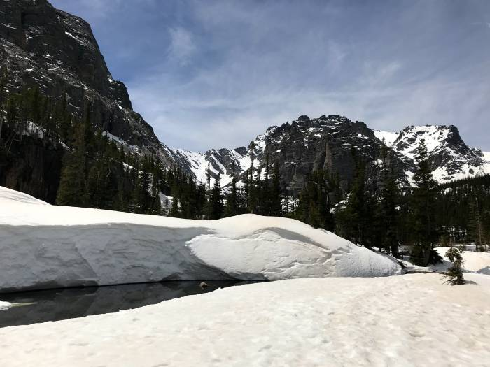 snow at Rocky Mountain National Park
