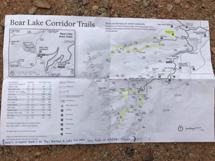 Bear Lake Area Winter Trails Map