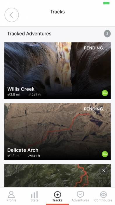 Bivy app tracked adventures