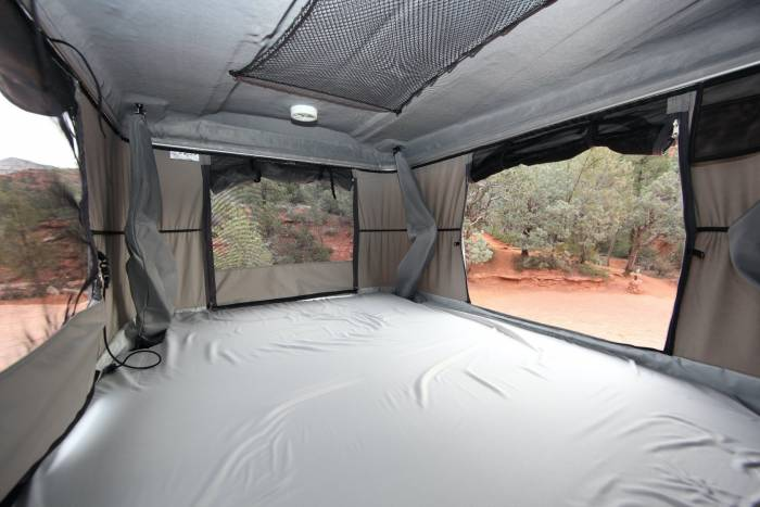 rooftop tent interior