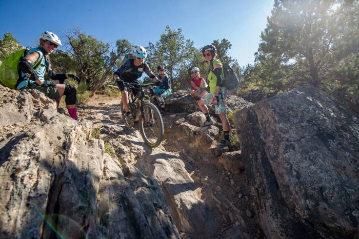 female mountain bikers