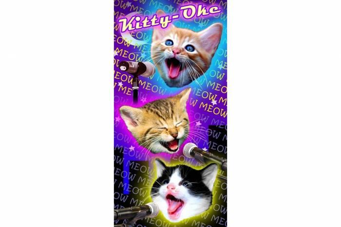 Cat Karaoke Towel