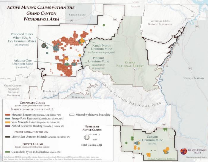 Proposed uranium mines near Grand Canyon