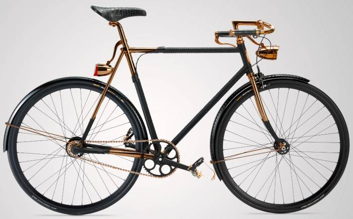 Williams Goods and Supply Wheelmen copper python bicycle