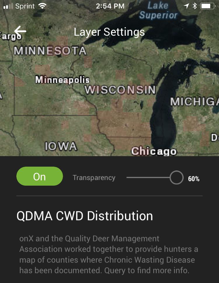CWD Map onX
