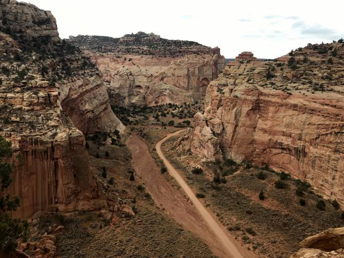 Grand Wash Road Capitol Reef National Park