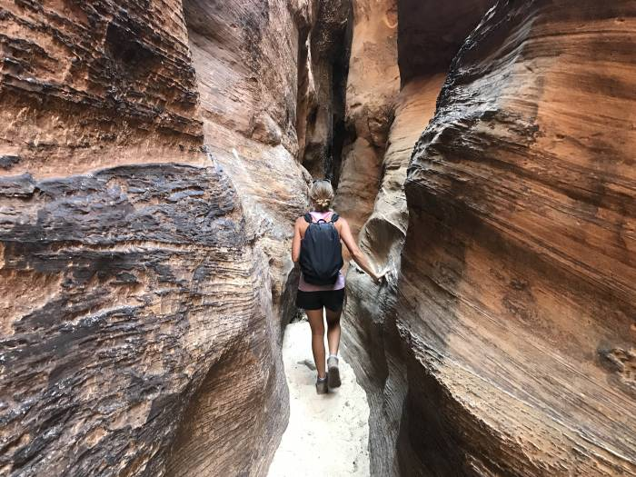 Burro Wash slot canyon