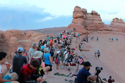 crowds at arches national park