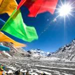 Prayer flags at Everest camp