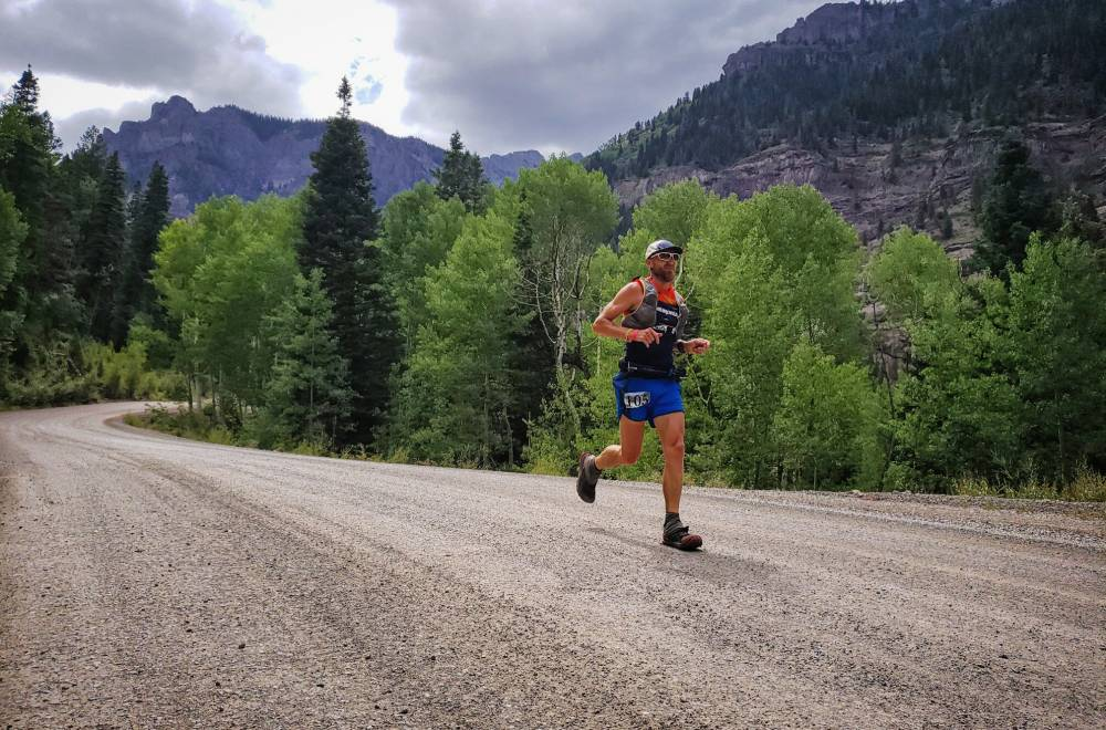 Jeff Browning running Hardrock 100