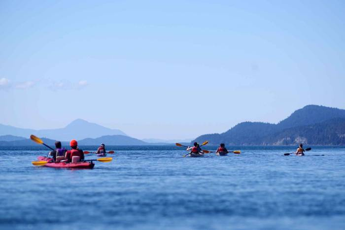 Paddling off the coast at Galiano Island