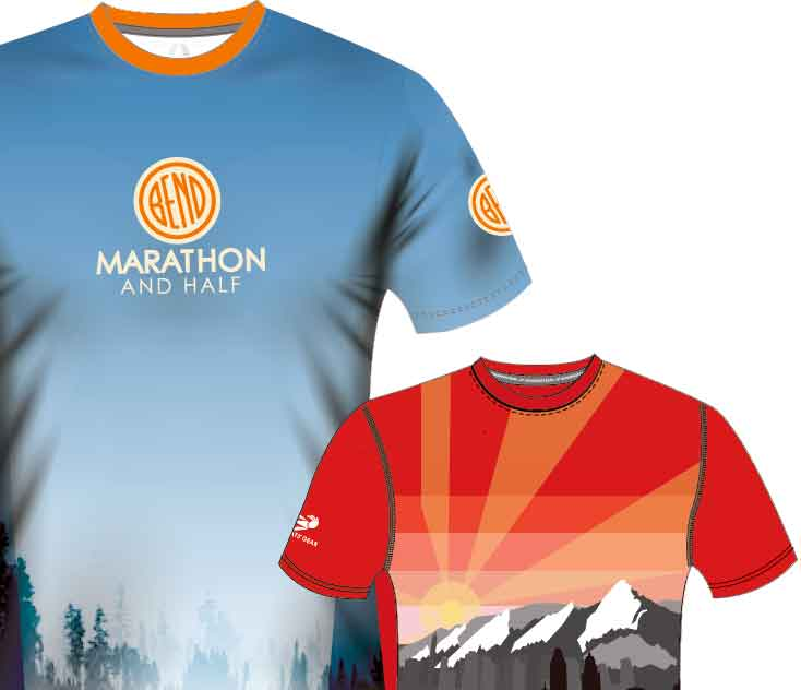 Mock-ups of sublimation t-shirts