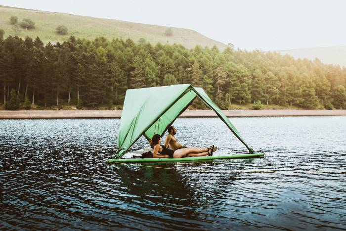 Tentsile Universe floating tent on water