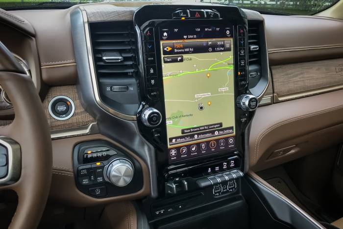 Dodge RAM 1500 12-inch configurable touch screen in Longhorn