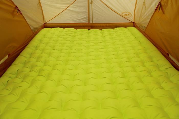Big Agnes q-core slx insulated double sleeping pad i-beam construction