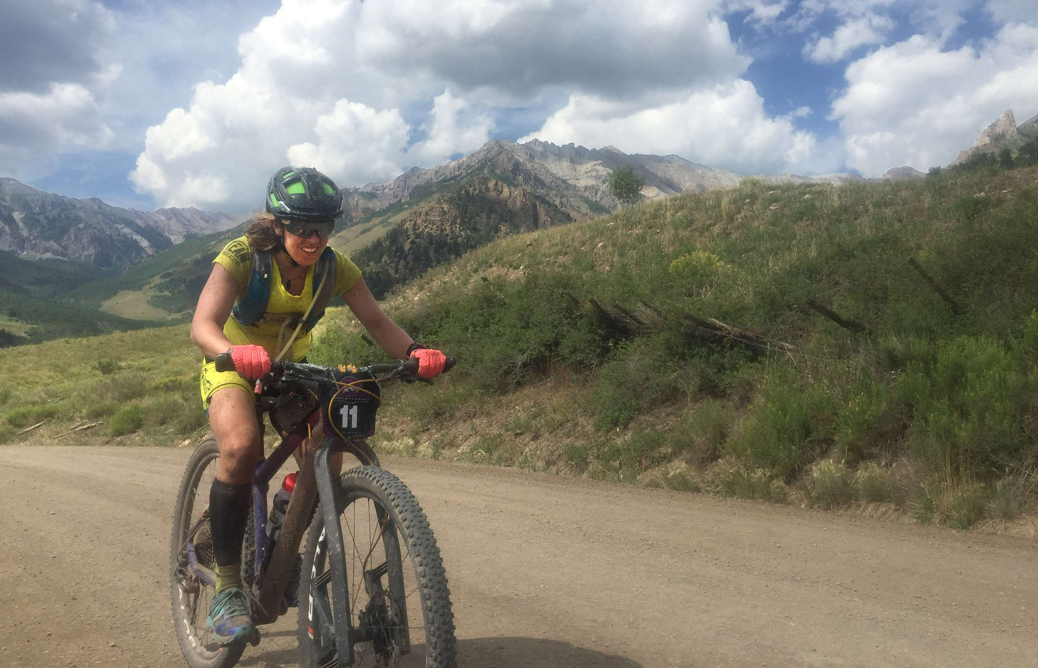 Chelsey Magness riding Telluride 100 mountain bike race