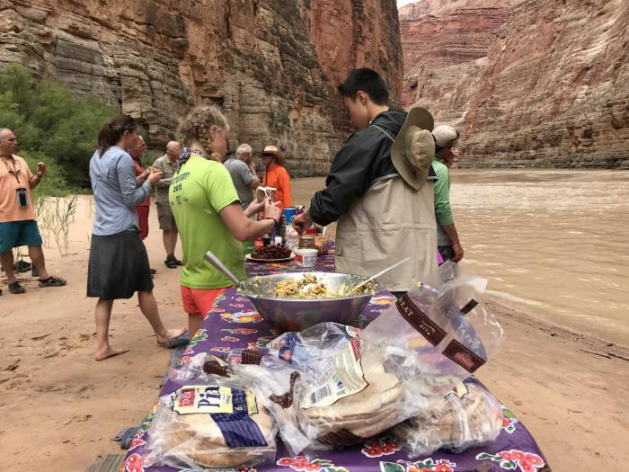 lunch in the grand canyon