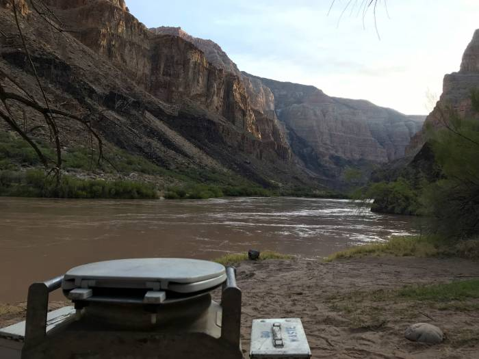toilet in the grand canyon