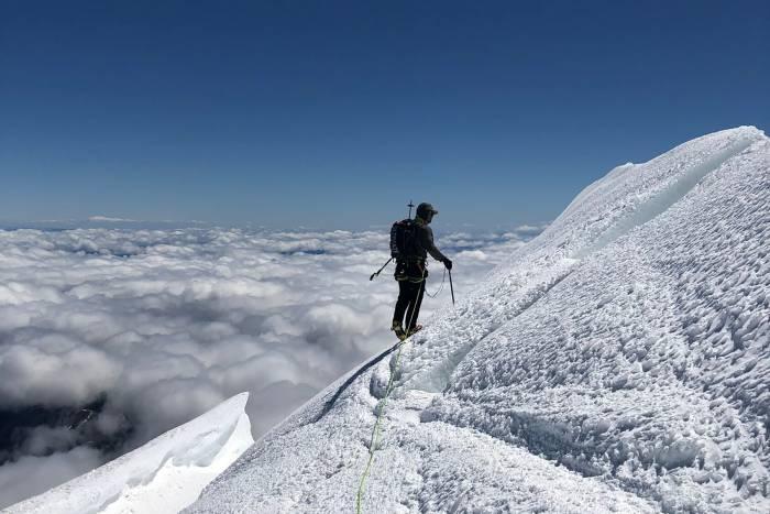 Jason near the summit of Mt Rainier on the first ascent