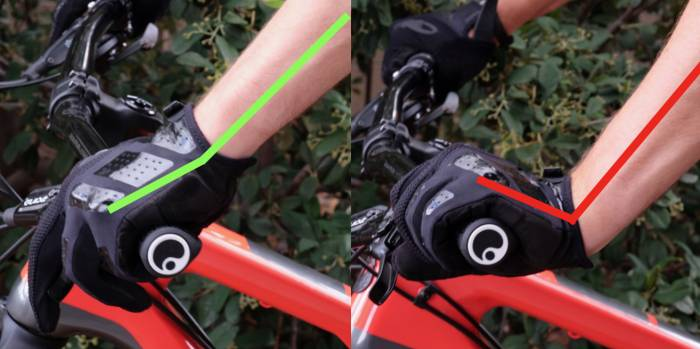 mountain bike grips wrist