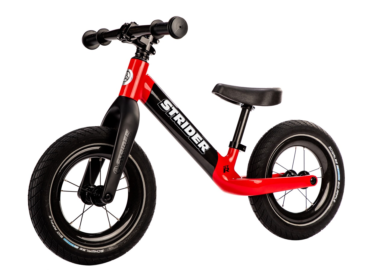 789cdaf1d42 The silly expensive $900 Strider balance bike comes with full carbon fiber  frame, fork, wheels, handlebar, and seatpost. And, of course, if you're  going ...