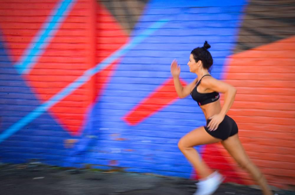 sports bra on runner