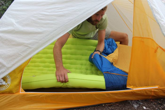 big agnes sentinel 30 double sleeping pad with q-core six insulated double sleeping pad