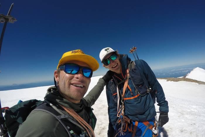 Jason and Erik Summit Rainier second time