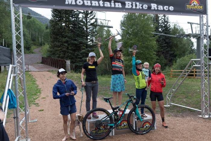 Chelsey Magness finished 3rd at the Telluride 100 MTB Race.