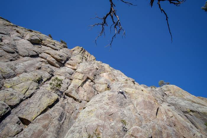 sport climbing at the base of devils tower
