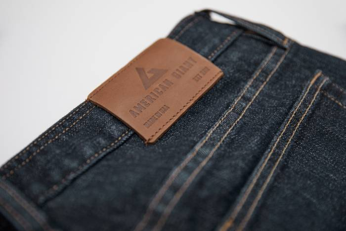 American Giant blue jeans Made in America