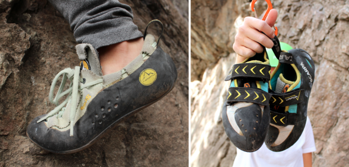 la sportiva and scarpa women's climbing shoes