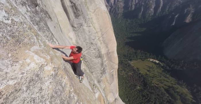 Watch Free Solo With Alex Honnold In 360 Degree Video Gearjunkie