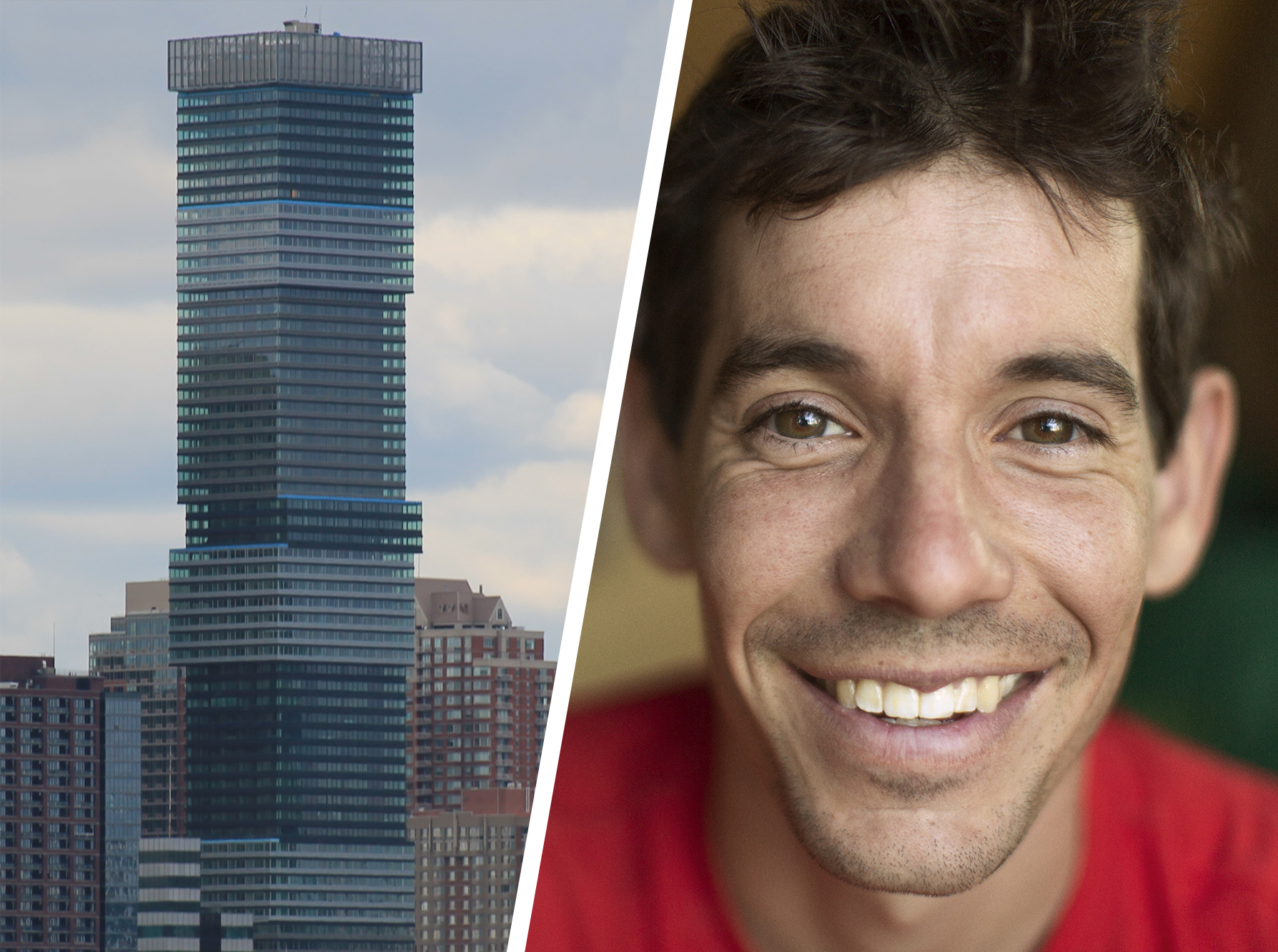 Alex Honnold free solos Urby skyscraper in Jersey City