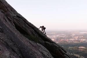 justin simoni climbs second flatiron 20 times